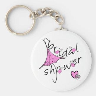 Pink Umbrella Bridal Shower Keychain