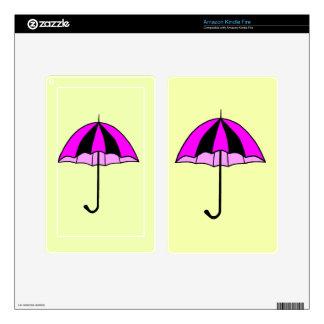 Pink,Umbrella,Custom Kindle Fire Skin