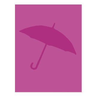 Pink Umbrella Postcard