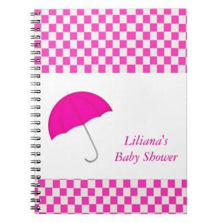 Pink Umbrella Shower Notebook