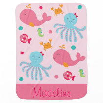 Pink Under the Sea Baby Blanket