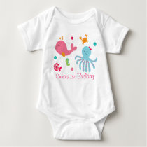 Pink Under the Sea Baby Bodysuit