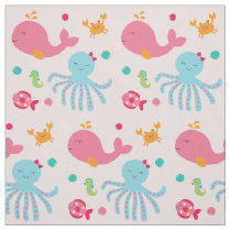 Pink Under the Sea Baby Nursery Fabric