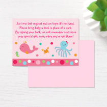Pink Under the Sea Book Request Cards