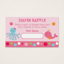 Pink Under the Sea Diaper Raffle Tickets