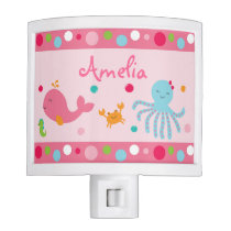 Pink Under the Sea Night Light