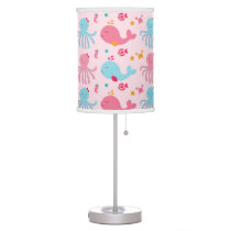 Pink Under the Sea Nursery Desk Lamp