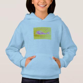 pink underwater mermaid hoodie