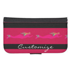Samsung Galaxy S4 Wallet Case with Dachshund Phone Cases design