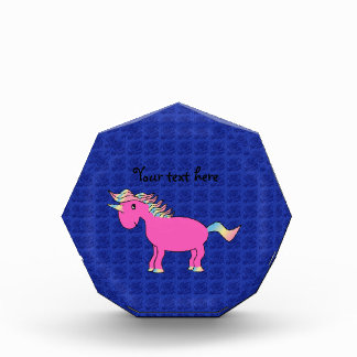 Pink unicorn blue roses award