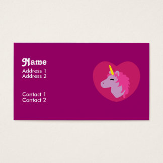 Pink Unicorn Business Cards