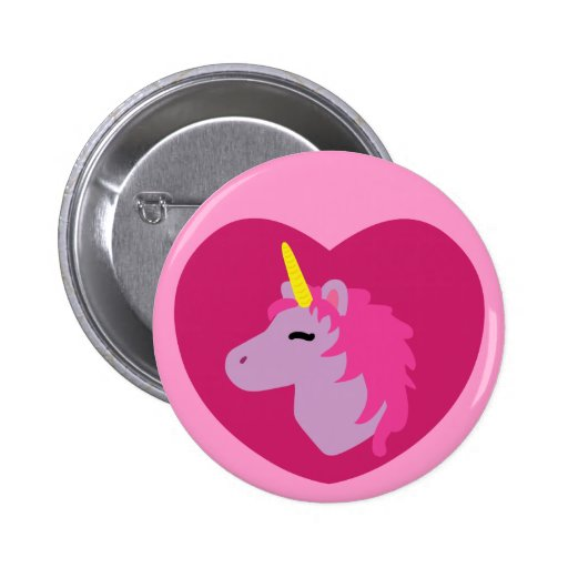 Pink Unicorn Buttons