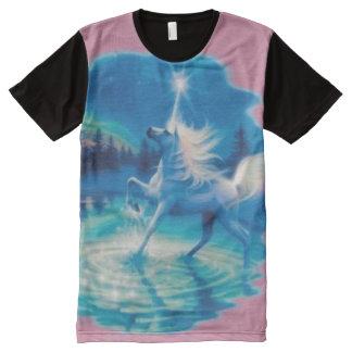 Pink Unicorn Fantasy Magic Airbrush Art All-Over-Print T-Shirt