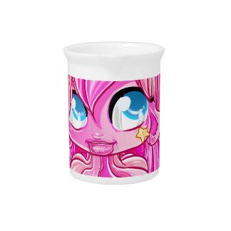 Pink unicorn girl pitcher