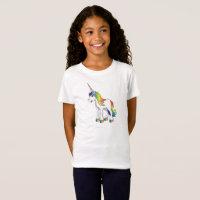 Pink Unicorn Girl's T Shirt
