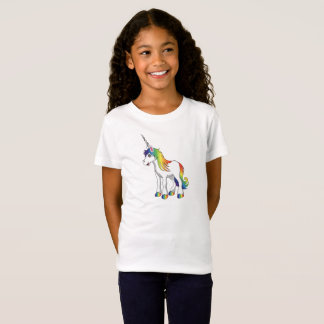 Pink Unicorn Girl's T Shirt
