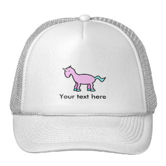 Pink unicorn trucker hats