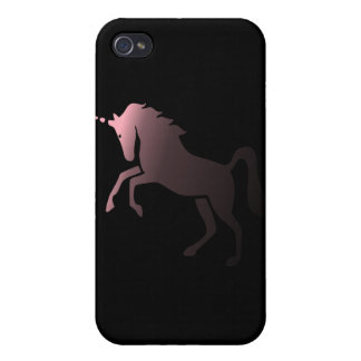 Pink Unicorn on Black Background Speck iPhone 4 Ca Cases For iPhone 4