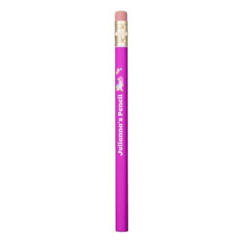 Pink Unicorn Personalized Pencil