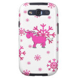 Pink unicorn pink snowflakes galaxy s3 cases