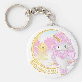 Pink Unicorn Po Keychain