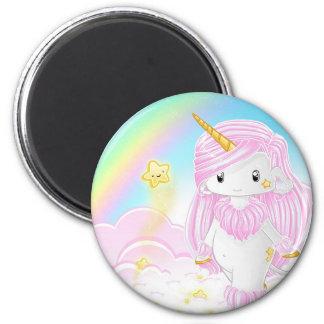 Pink Unicorn Po Magnet