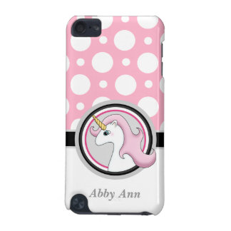 Pink Unicorn Polka Dot iPod Touch 5G Case