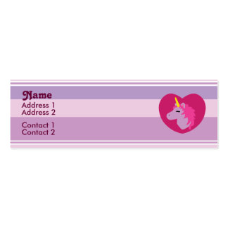 Pink Unicorn Profile Cards Business Cards
