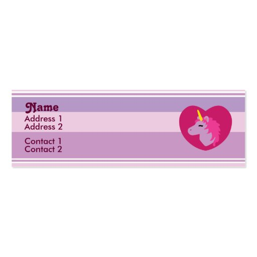 Cute kawaii business card templates page3 bizcardstudio pink unicorn profile cards business cards colourmoves