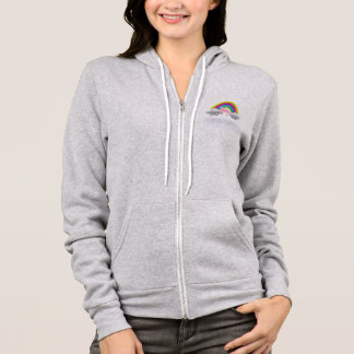 Pink Unicorn & Rainbow In The Clouds Graphics Hoodie