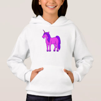 Pink Unicorn with Purple Mane Hoodie