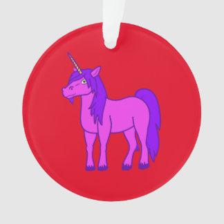 Pink Unicorn with Purple Mane Ornament