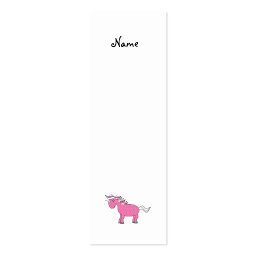 Pink unicorn with white stars Double-Sided mini business cards (Pack of 20)