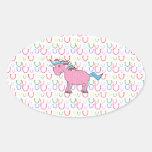 Pink unicorn with white stars sticker