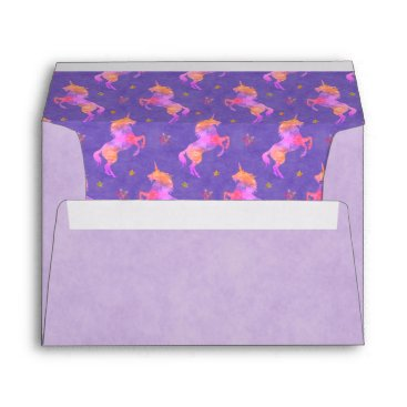 linda_mn Pink Unicorns Envelope