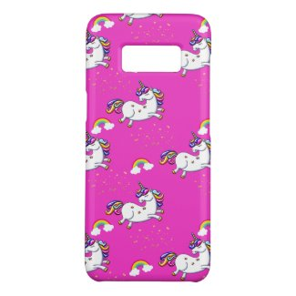 Pink Unicorns Gold Stars and Rainbow Case-Mate Samsung Galaxy S8 Case