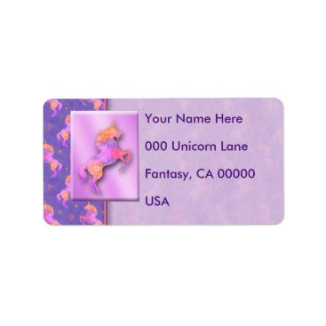 linda_mn Pink Unicorns Label