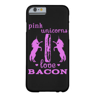 Pink Unicorns Love Bacon Barely There iPhone 6 Case