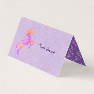 linda_mn Pink Unicorns Place Card