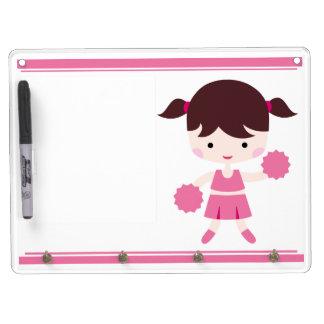 Pink Uniform Cheerleader Dry Erase Board