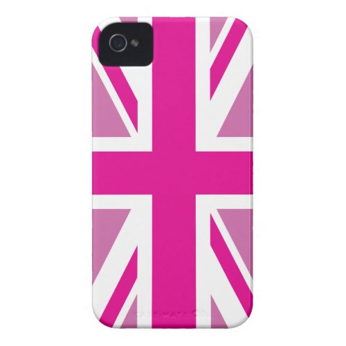 Pink Union Jack British Flag Case