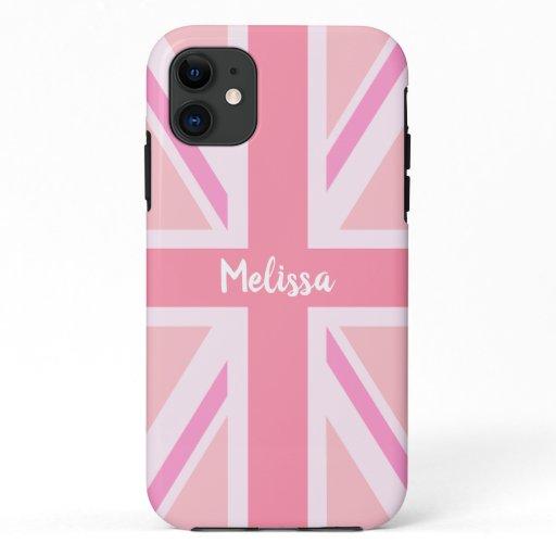 Pink Union Jack/Flag (Customized) iPhone 11 Case