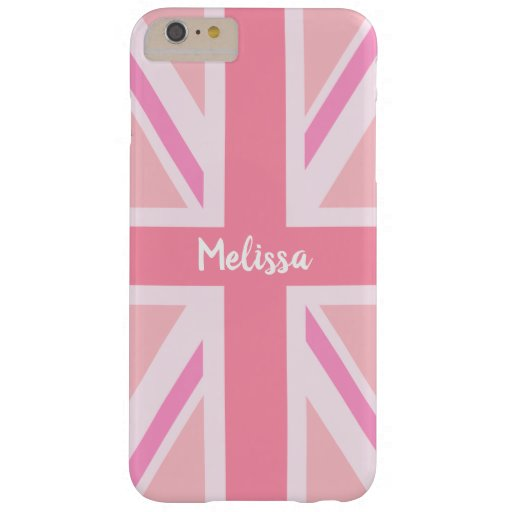 Pink Union Jack/Flag (Customized) Barely There iPhone 6 Plus Case