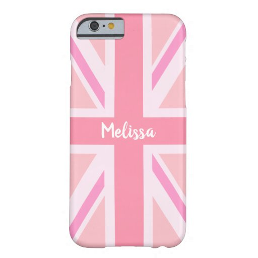 Pink Union Jack/Flag (Customized) Barely There iPhone 6 Case