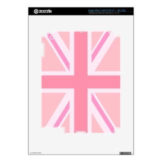 Pink Union Jack/Flag Design iPad 3 Decal
