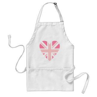 Pink Union Jack/Flag Heart Aprons