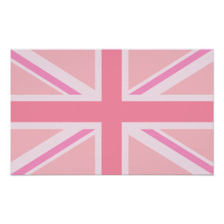 Pink Union Jack/Flag Posters