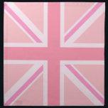 "Pink Union Jack/Flag Square Design Napkin<br><div class=""desc"">Union Flag (also known as the Union Jack),  British flag in a square design and pink colour-way.</div>"