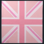 "Pink Union Jack/Flag Square Design Napkin<br><div class=""desc"">Union Flag (also known as the Union Jack),  British flag in a square design and pink colour-way.</div>"