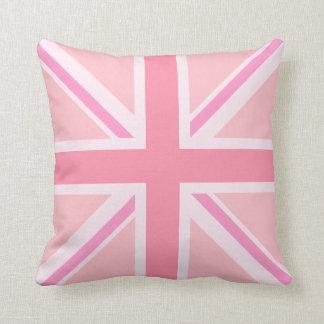 Pink Union Jack/Flag Square Design Pillows